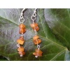Handmade silver and amber earrings