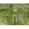 Handmade silver chakra earrings