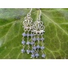 Handmade silver and Tanzanite earrings